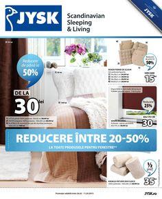 Reducere intre 20-50% la toate produsele pentru ferestre! Vizualizati noul Catalog Jysk valabil in perioada 26.02-11.03.2015