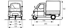 piaggio ape food cart specs - Google Search