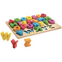Buy John Lewis Chunky Wooden ABC Puzzle online at John Lewis