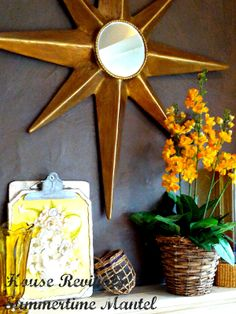 A star burst mirror made from recycled cardboard boxes!  House Revivals