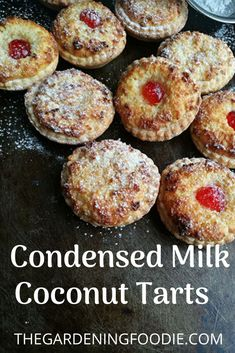 If you like coconut desserts then you are going to love this condensed milk coconut tarts a buttery shortcrust base filled with sweet coconut filling makes up this all time classic dessert no bake coconut praline cookies Brownie Desserts, Oreo Dessert, Mini Desserts, Coconut Desserts, Classic Desserts, Coconut Recipes, Plated Desserts, Pastry Recipes, Tart Recipes