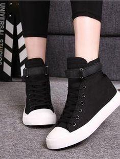 Giày WM 283 - Giày thể thao cổ cao màu đen trắng
