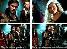 Captain Hook Emma Swan Killian Jones Colin O'Donoghue Jennifer Morrison Once Upon a time If you take place like thanks Miriam Best Tv Shows, Best Shows Ever, Favorite Tv Shows, Once Upon A Time, Movies Showing, Movies And Tv Shows, Between Two Worlds, Hook And Emma, Bae