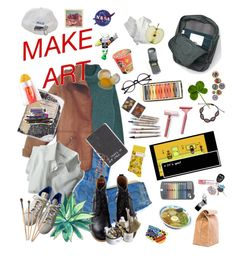 """Make Art"" by left-alone-in-the-rain on Polyvore featuring art"
