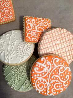 Decorated Stencil Cookies