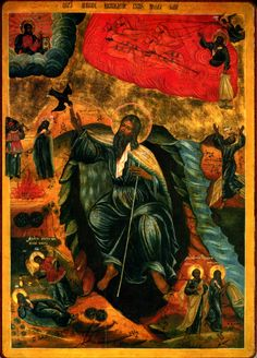 Огненное искушение святого пророка Божия Илии Современная икона Собрание Валентина Казерского 528 Кб