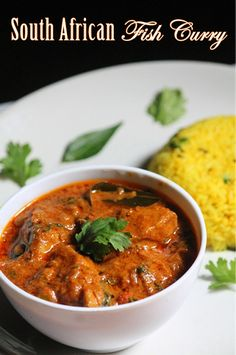 South African Fish Curry Recipe - Mchuzi Wa Samaki Recipe - Yummy Tummy This is a delicious south african fish curry recipe. It is flaky fish cooked in a coconut milk sauc Seafood Curry Recipe, Seafood Recipes, Chicken Recipes, Cooking Recipes, Oven Recipes, Recipies, Best Fish Curry Recipe, South African Recipes, Indian Food Recipes