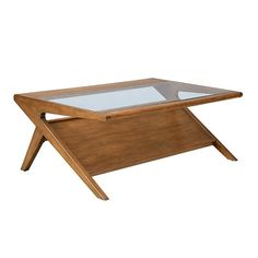 OLLIIX - Rocket Coffee Table with Tempered Glass | INK+IVY Home Wholesale