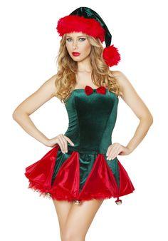 Naughty Elf Costume Set