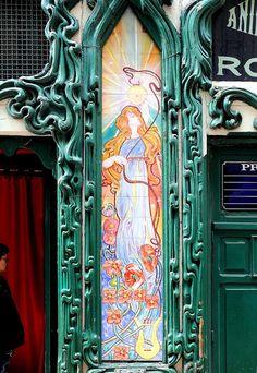 Lisboa - 23 Rua Correeiros Art Nouveau Azulejos de Portugal, Portuguese Tiles, azulejos