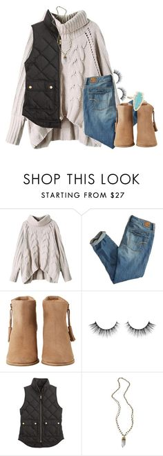 """lalalalove//emma"" by preppy-southern-gals ❤ liked on Polyvore featuring American Eagle Outfitters, HOWSTY, J.Crew, Alexandra Beth Designs and Kendra Scott"