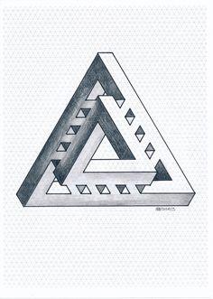 #impossible #isometric #geometry #symmetry #mathart #regolo54 #oscareutersvärd #escher