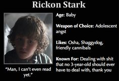 Game of Thrones Trading Cards - Rickon Stark