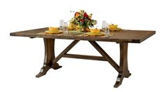 Amish Westin Table Leola Collection Rustic construction and smooth lines combine in our Westin Table. Coupled with Westin Chairs, available with or without arms, the Westin has an upscale but re