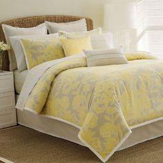 Yellow and Grey comforter