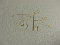 Letter H caligraphy. The ink is amazing.