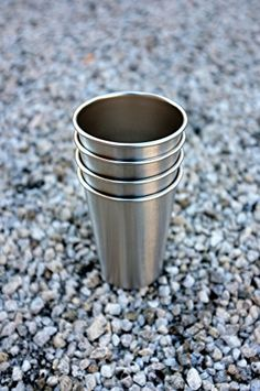 Camping Kitchen :BarvinciTM 16 Oz Stainless Steel Pint 4 Pack ** Awesome product. Click the image