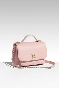 79b062a94dd2 Flap bag with top handle, grained calfskin   gold metal-pink - CHANEL.  Leasy Luxe