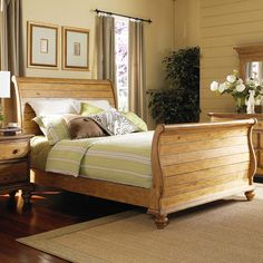 I pinned this Sibeal Sleigh Bed from the Irish Cottage event at Joss and Main!