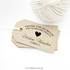 Heart Thank You Escort Card Tags, DIY Text Editable Printable, MEDIUM Size, Wedding Thank You Tags & Escort Card Tags Wedding Gift Tag