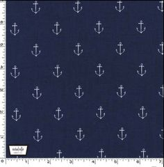 Anchors Away DC5627 Navy from the Out to Sea Collection by Sarah Jane for Michael Miller Fabrics 1/2 yard