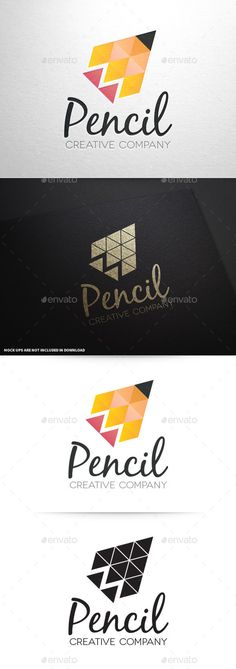 Pencil Creative Logo Template — Vector EPS #writing #writer • Available here → https://graphicriver.net/item/pencil-creative-logo-template/2890741?ref=pxcr