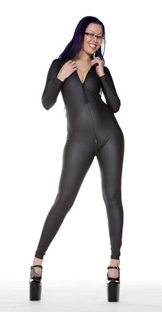 Leather Look PVC Catsuit