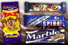 Here are the nine retro Cadburys chocolate bars that need to come back IMMEDIATELY! In celebration of the Cadbury s birthday, here are Britain s favourite discontinued treats. Retro Chocolate Bars, Cadbury Chocolate Bars, Chocolate Covered Pretzels Recipe, Tasty Chocolate Cake, 90s Sweets, Retro Sweets, 1980s Childhood, Childhood Memories, Discontinued Food