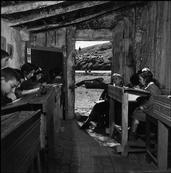 David Seymour 1950 The inside view of the school in Cimino. Through the open door...
