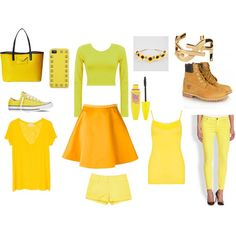 """Yellow"" by msara23 on Polyvore"
