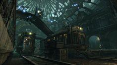 Concept level design for Batman: Arkham City.