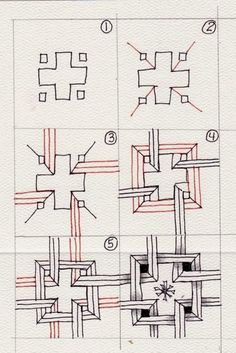 zentangle steps variation - Google Search