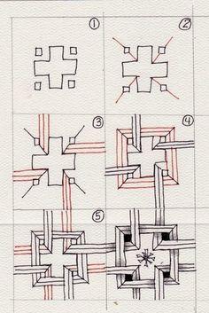 zentangle steps variation - Google Search