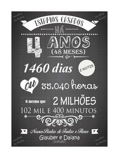 Chalkboard Bodas de Frutas e Flores - Arte Digital no Elo7 | LunaBlue Store (A6E5C2) My Wedding Favors, Do Love, Letter Art, My Images, Wedding Anniversary, Chalkboard, Diy And Crafts, Creative, Party