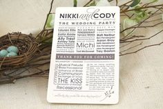 Modern & Rustic Wedding Program  Get Started by nestingprojectwed, $35.00