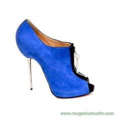 Christian Louboutin Zipito 120mm Bleu Femmes vente