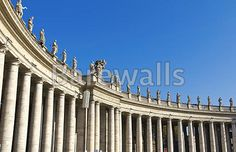 """""""The beautiful view of the Bernini's colonnade in Peter's Square, Vatican City. Rome"""" - Rome posters and prints available at Barewalls.com"""