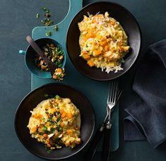 Blumenkohl-Kürbis-Gemüse mit Mandel-Gremolata Rezept - [ESSEN UND TRINKEN]