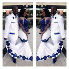 New White Satin Royal Blue Lace Aso Ebi African Prom Dresses Long Illusion Sleeves Applique Evening Formal Gowns Pageant Celebrity Dress Yellow Prom Dresses Ball Gown Prom Dresses From - African Print Wedding Dress, African Wedding Attire, African Attire, African Weddings, Nigerian Weddings, Couples African Outfits, Couple Outfits, African Prom Dresses, Latest African Fashion Dresses
