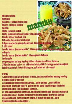 Cookie Recipes, Snack Recipes, Dessert Recipes, Snacks, Easy Recipes, Desserts, Malaysian Food, Bread Cake, Recipe Cards