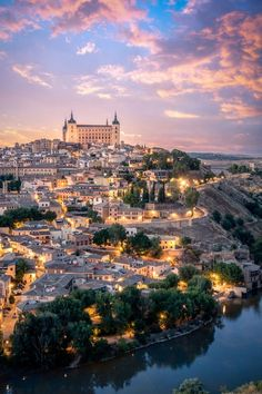 Alcázar of Toledo, Spain. Once used as a Roman palace in the century, it was restored under Charles I (Holy Roman Emperor Charles V) and his son Philip II of Spain in the Places To Travel, Places To See, Wonderful Places, Beautiful Places, Wonderful Picture, Magic Places, Toledo Spain, Toledo Madrid, Madrid Barcelona