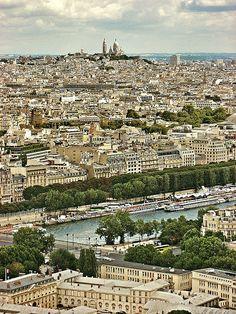 Sacre Coeur from Eiffel Tower, Paris