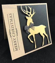 Dashing Deer - The Stamp Camp Dashing Deer - The Stamp Camp Christmas Cards 2018, Simple Christmas Cards, Homemade Christmas Cards, Christmas Deer, Christmas Greeting Cards, Christmas Greetings, Handmade Christmas, Homemade Cards, Holiday Cards