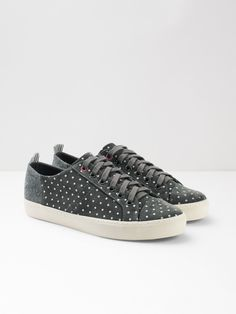 White Stuff Sally Spot Lace Up Trainer Smart Casual Footwear, Lace Up Trainers, Sports Luxe, Polka Dot Print, Sally, Converse, Heels, Sneakers, White Stuff