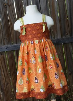 Fall Pear Knot Dress by fluffygirlboutique on Etsy, $34.99