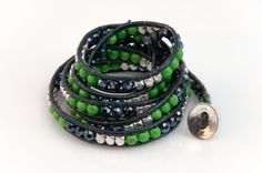 The Navy Blue...a wrap designed by MyTeamWraps for the Seahawks ladies. MyTeamWraps designs wrap bracelets for all 32 NFL teams. Our wraps are designed with extra button loops to accommodate all wrist sizes. www.myteamwraps.m... or www.etsy.com/shop/TeamWraps $24