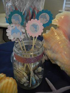 ocean or dolphin party theme idea