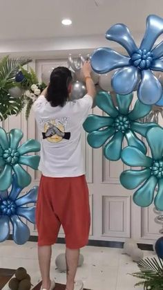 Balloon Crafts, Birthday Balloon Decorations, Balloon Gift, Birthday Party Decorations, Balloon Arrangements, Balloon Centerpieces, Creative Flower Arrangements, Balloon Backdrop, Balloon Flowers