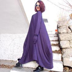 Loose Maxi Dress / Long Asymmetric Dress / Kaftan / Maxi von Teyxo, $79.00