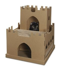 cardboard+cat+house | Awesome cat houses... wait for it.... from cardboard boxes!